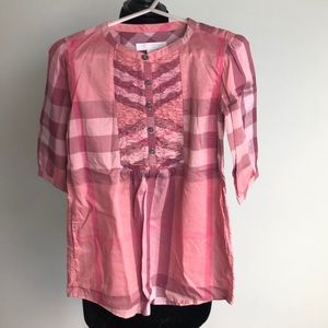 Burberry pink nova check dress. Size 5yrs
